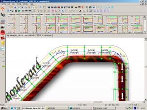 I software di progettazione permettono di verificare la chiusura in base all'elasticità dei binari