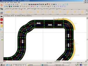 Minima configurazione dei cordoli all'uscita di curva
