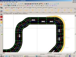Configurazione ottimale dei cordoli all'uscita di curva