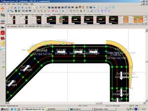 Minima configurazione dei cordoli in un corto rettilineo fra due curve
