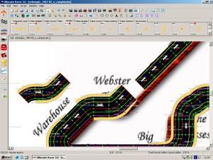 In tracciati a 6 o 8 corsie quella interna e esterna sono molto approssimate nell'andamento delle curve. La scelta di un sistema digitale a meno corsie risolve il problema