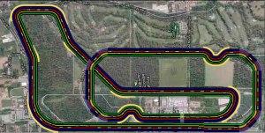 Ricostruzione in scala del tracciato di Monza da 10Km